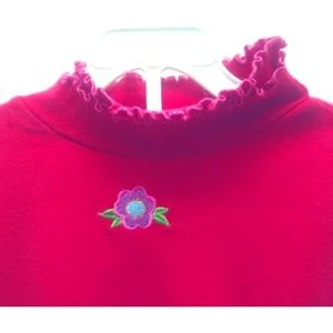 Hanna Andersson Red T-neck Shirt Top 120 / 6